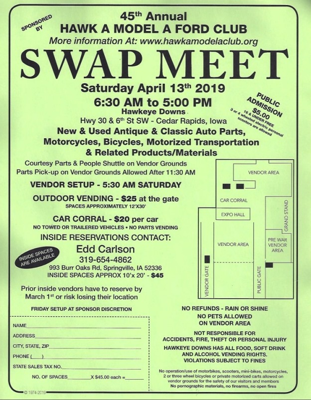 2018 HAMAFC  Swap Meet Flyer